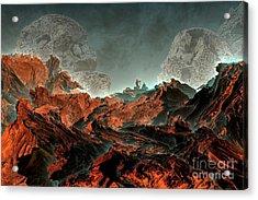Prophecy Acrylic Print by Bernard MICHEL