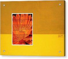 Prophesy And Fact IIi Acrylic Print