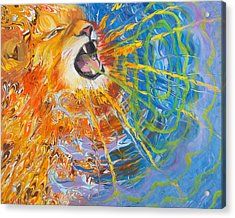 Prophetic Sketch Painting 25 Lion Of Judah Awakens With A Roar Acrylic Print