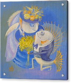 Acrylic Print featuring the painting Proposal by Marina Gnetetsky