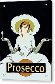 Prosecco Acrylic Print by Fig Street Studio