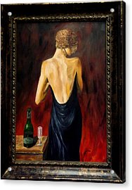Prosecco Nights Framed Acrylic Print by Gino Didio