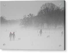 Prospect Park Brooklyn In Winter Acrylic Print by Julie VanDore