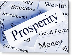 Prosperity Concept Acrylic Print