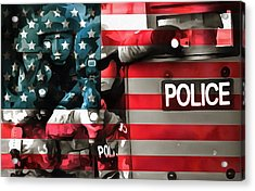 Protect And Serve Acrylic Print by Dan Sproul