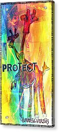 Protect Acrylic Print by Currie Silver