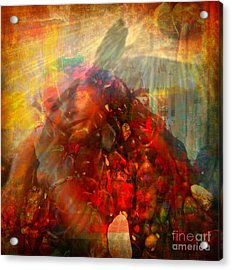 Protected - God Is Watching Evil Watching Me Acrylic Print by Fania Simon
