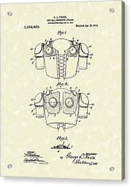 Protective Gear 1914 Patent Art Acrylic Print