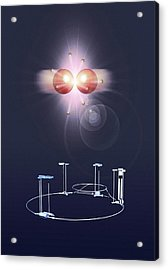 Proton Collision And The Lhc Acrylic Print by Mikkel Juul Jensen