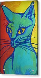 Proud Cat Acrylic Print by Cherie Sexsmith