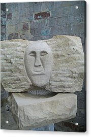 Proud Smiling Face Acrylic Print by Stephen Nicholson