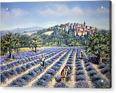 Acrylic Print featuring the painting Provencal Harvest by Rosemary Colyer