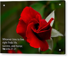 Proverbs 21- 21 Acrylic Print