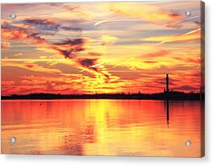 Provincetown Harbor Sunset Acrylic Print by Roupen  Baker
