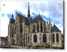 Provincial Church In France Acrylic Print by Olivier Le Queinec