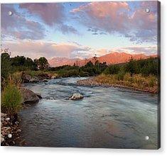 Provo River Sunrise Acrylic Print
