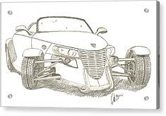 Prowler Sketch Acrylic Print