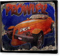 Prowler Tin Sign Discovered In 2153 Acrylic Print