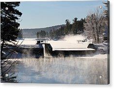 Winter  Pine River Pond  Acrylic Print