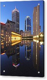Prudential Center At Night Acrylic Print by Juergen Roth