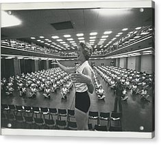 Prunella Stack Leads Health And Beauty League Anniversary Acrylic Print by Retro Images Archive