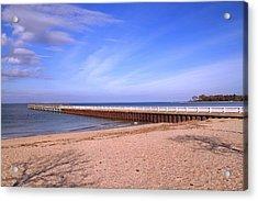 Prybil Beach Pier Acrylic Print