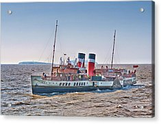 Ps Waverley Approaching Penarth Acrylic Print by Steve Purnell