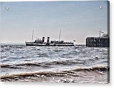 Ps Waverley Leaves Penarth Pier Acrylic Print by Steve Purnell