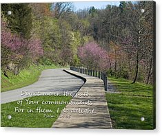 Psalm 119 Direct Me In The Path Acrylic Print