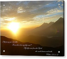Psalm 121 1 2 C Acrylic Print by Nicki Bennett