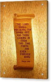 Psalm 121 Acrylic Print by James Hammen