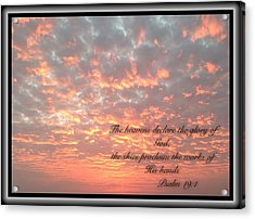 Psalm 19 11 Acrylic Print