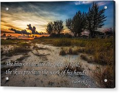 Acrylic Print featuring the photograph Psalm 19 by Joshua Minso
