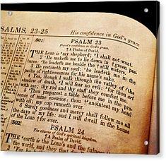 Psalm 23 - The Lord Is My Shepherd Acrylic Print by Deena Stoddard