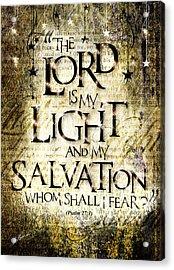 Psalm 27 Acrylic Print by Gary Bodnar