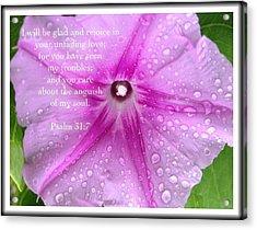 Psalm 31 7 Acrylic Print