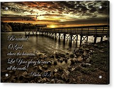 Acrylic Print featuring the photograph Psalm 57-5 by Joshua Minso