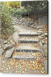 Acrylic Print featuring the photograph Psalm 61 2 by Joan Reese