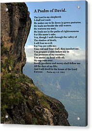 Psalm Of David Acrylic Print by Kirt Tisdale