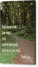 Psalm  - Paths Acrylic Print by Sharon Elliott