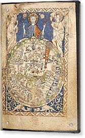 Psalter World Mappa Mundi Acrylic Print by British Library