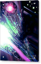Psi Clops Space Dragon1 Acrylic Print