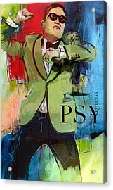 Psy Acrylic Print by Corporate Art Task Force