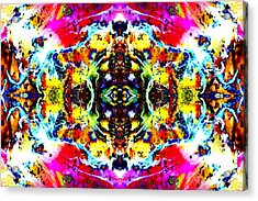 Psychedelic Abstraction Acrylic Print
