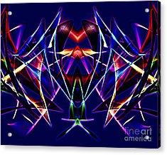 Psychedelic Bat N Wings Acrylic Print