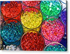 Psychedelic Beads Acrylic Print by Frozen in Time Fine Art Photography