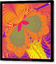Psychedelic Butterfly Explosion Fractal 61 Acrylic Print by Rose Santuci-Sofranko