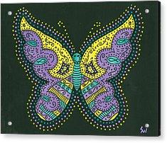 Psychedelic Butterfly Acrylic Print