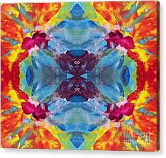 Psychedelic Collision Acrylic Print by Pattie Calfy