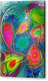 Psychedelic Colors Acrylic Print by Anastasiya Malakhova